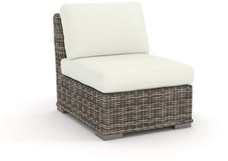Pottery Barn Square Arm Swivel Occasional Chair Sunbrella®; Cushion Slipcover