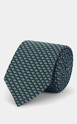 Gucci Men's Bee-Motif Silk Jacquard Necktie - Green
