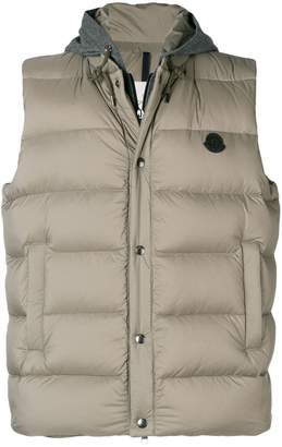 Moncler hooded feather down gilet