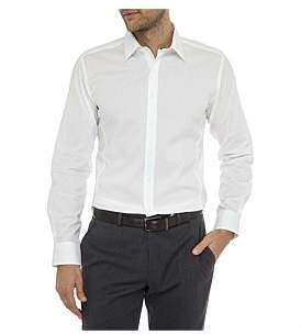 Geoffrey Beene Speckle Stretch Dot Body Fit Shirt