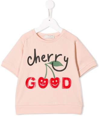 Stella McCartney cherry good print sweat top