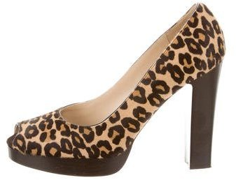 MICHAEL Michael KorsMichael Kors Leopard Print Peep-Toe Pumps