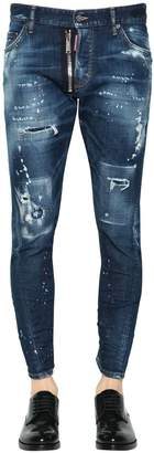 DSQUARED2 16cm Sexy Twist Destroyed Denim Jeans
