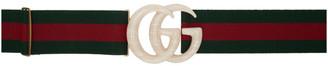 Gucci Off-White Elastic Web GG Belt