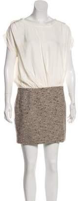 Rebecca Taylor Cap Sleeve Mini Dress