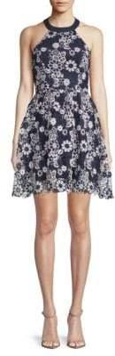 J.o.a. Floral Lace Halter Dress