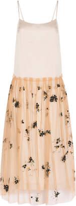 Suno Sleeveless Tulle Overlay Dress