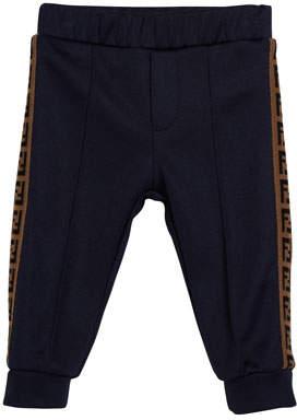 Fendi Boy's Track Pants w/ FF Taping, Size 12-24 Months