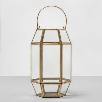 Opalhouse Hexagon Outdoor Lantern Gold Frame - Opalhouse