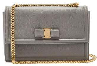 Salvatore Ferragamo Ginny Medium Leather Shoulder Bag - Womens - Light Grey