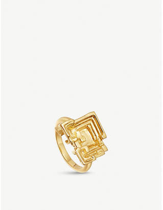 Missoma Ltd Geo Bismuth Terra 18ct gold-plated ring
