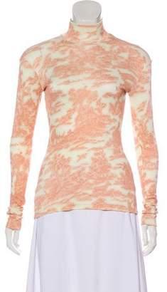 Celine Printed Long Sleeve Top