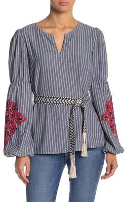 Free the Roses Striped Long Sleeve Tunic