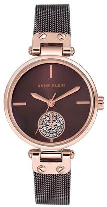 Anne Klein Ladies Brown Swarovski Analogue Bracelet Watch Ak/N3001rgbn