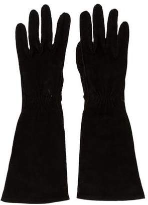 Hermes Veau Doublis Suede Gloves