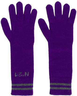 No.21 long logo gloves