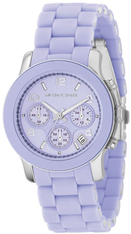 Michael kors lavender-dial chronograph sport watch