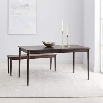 west elm Modern Farmhouse Expandable Dining Table - Dark Mineral