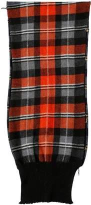 Stella McCartney Wool Knit Bicolor Plaid Scarf