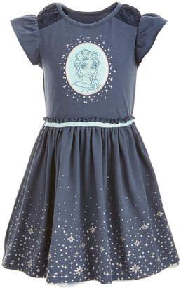 Disney Little Girls Elsa Graphic-Print Dress