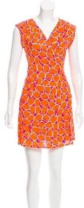Diane von Furstenberg Linen Wrap Dress