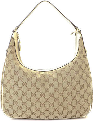 Gucci Canvas Hobo Shoulder Bag - Vintage