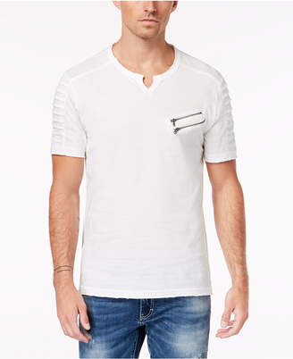 INC International Concepts I.n.c. Men's Split-Neck Zipper T-Shirt, Created for Macy's