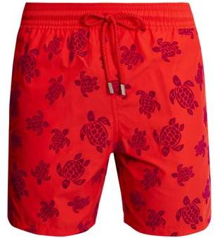 Vilebrequin Moorea Turtles Print Swim Shorts - Mens - Red