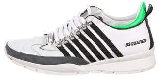 DSQUARED2 Striped Leather Sneakers