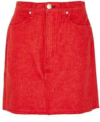 Rag & Bone Moss High-waisted Denim Mini Skirt