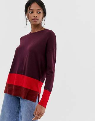 Warehouse color block sweater