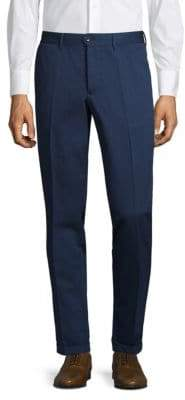 J. Lindeberg Solid Flat Front Pants