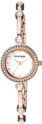 Swarovski Armitron Women's 75/5591MPRG Crystal Accented -Tone Bangle Watch