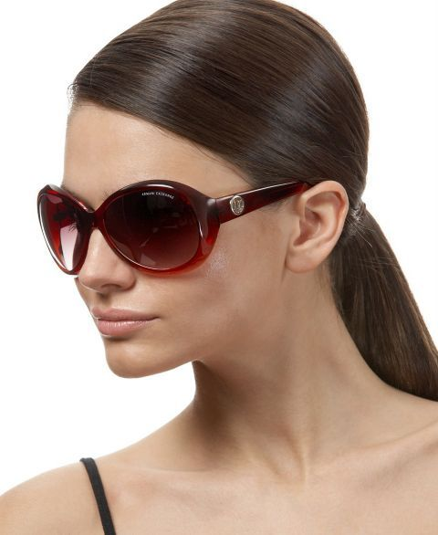 A/X Armani Exchange Large Oval Sunglasses