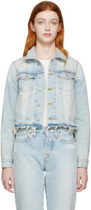 Off-White Off White Blue Cropped Denim Jacket