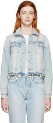 Off-White Off White Blue Cropped Denim Jacket