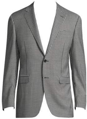 Canali Check Wool Sportcoat