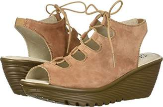 Skechers Women's Parallel Peep Toe Ghillie Slingback Wedge Sandal