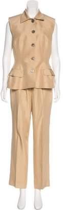 Rochas Silk Sleeveless Pantsuit