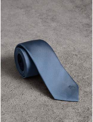 Burberry Slim Cut Check Silk Twill Tie
