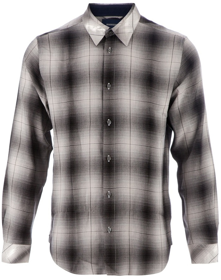 Miharayasuhiro long sleeve checked shirt