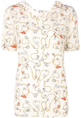 Marni embroidered short-sleeve top