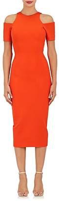 Victoria Beckham Women's Compact Knit Cold-Shoulder Midi-Dress