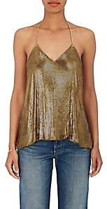 Balmain WOMEN'S CHAIN-MAIL HALTER TOP-BRONZE SIZE 40 FR