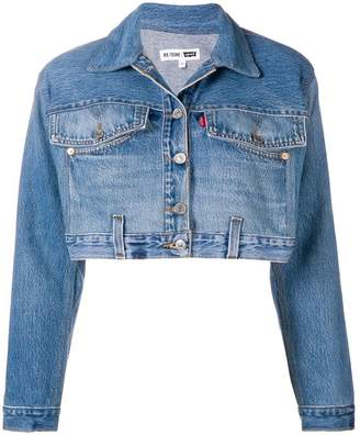 RE/DONE cropped denim jacket