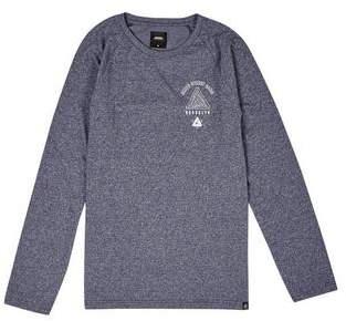 Burton Mens Navy Grindle Long Sleeve Raglan T-Shirt with Chest Print