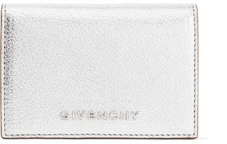 Givenchy Pandora Small Metallic Textured-leather Wallet - Silver