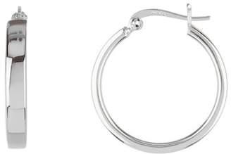 Argentovivo Sterling Silver Square Hoop Earrings