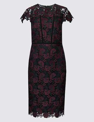 Marks and Spencer Lace Cap Sleeve Bodycon Midi Dress