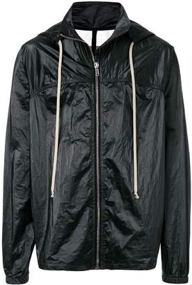 Rick Owens drawstring hooded jacket